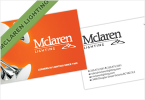 Mclaren Lighting Business Card Design